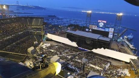 "San Francisco's AT&T Park hosted ""The Wall"" tour that Roger Waters brings to Fenway Park on Sunday."