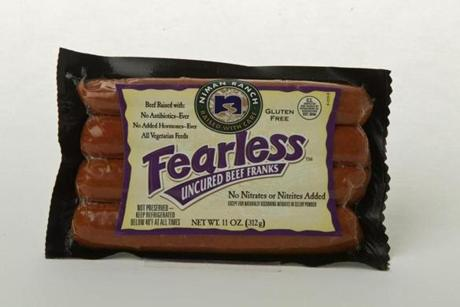 "THE RUNNER-UP: Niman Ranch Fearless Uncured Beef Franks (4 links/11 oz./$4.99 at Whole Foods); comments . . . ""Great."" ""Meaty."" ""Cloves."""