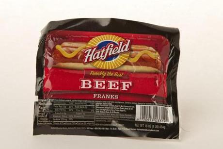 "Hatfield Beef Franks (8 links/16 oz./$2.79 at Market Basket); comments . . . ""Maple."" ""Molasses."" ""The salt overpowers."""
