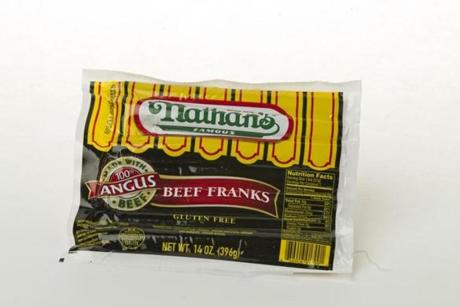 6/21/12 Boston, MA Nathan's Famous Beef Franks in the studio on Thursday June 21, 2012. (Matthew J. Lee) slug: 0722hotdog section: living reporter: Althoff
