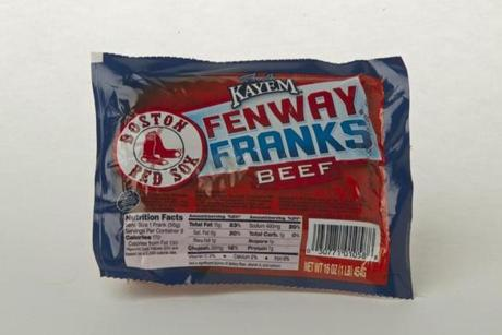 "Kayem Fenway Franks Beef (8 links/16 oz./$5.59 at Roche Bros.); comments . . . ""Juicy."" ""Robust, classic."" ""Beefy."" ""Good and chewy."""