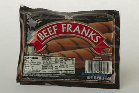 "Stop & Shop Beef Franks (8 links/16 oz./$3.89 at Stop & Shop); comments . . . ""Good texture."" ""Mediocre."" ""Chewy in a good way."""