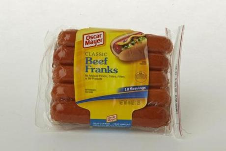 "Oscar Mayer Classic Beef Franks (10 links/ 16 oz./$5.39 at Stop & Shop); comments . . . ""Flabby."" ""Mushy . . .  somehow appealingly so."" ""High on taste."""