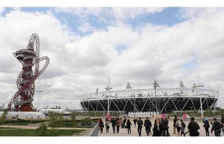 LONDON, ENGLAND - MAY 11: The ArcelorMittal ORBIT during the sculpture's official unveiling in the Olympic Park on May 11, 2012 in London, England. (Photo by Christopher Lee/Getty Images)