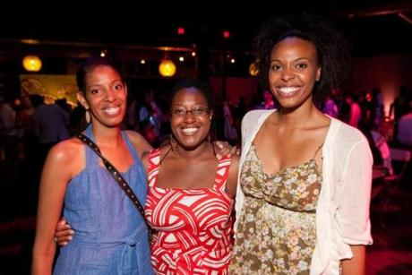 6/22/12 Boston, MA -- From left, Lydia Diamond, a playwright whose play