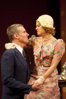 "Glenn Fitzgerald and Amy Spanger in ""The Importance of Being Earnest."""