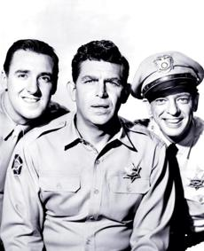 "Jim Neighbors, Andy Griffith, and Don Knottsstarred in ""The Andy Griffith Show."""