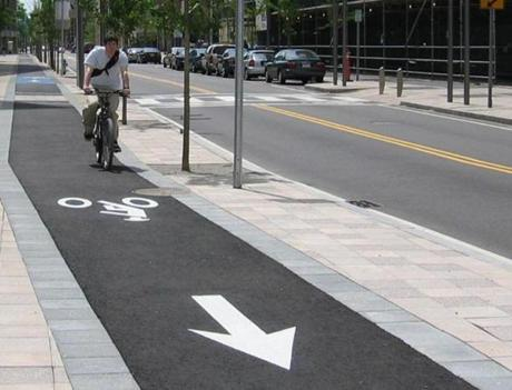 Cycle tracks like this one in Cambridge will be key to attracting more riders.