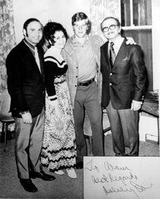 The family of Aram Brazilian Jr., who owned the hotel, with Boston Bruin Bobby Orr during a party around 1970.