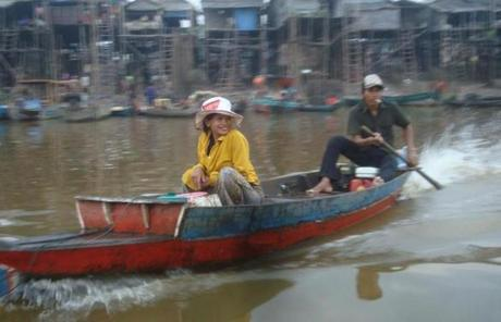 In the stilt village of Kampong Phluk, the lake served as the primary thoroughfare.