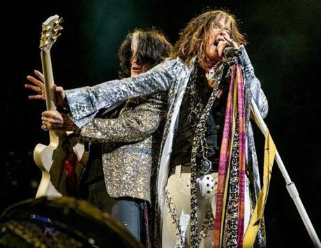 Aerosmith performed on stage at the TD Garden.