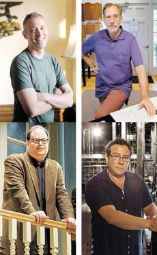 "Clockwise (from top left): composer Scott Frankel; lyricist Michael Korie; director Michael Greif; and playwright Richard Greenberg are collaborating on the musical ""Far From Heaven.''"
