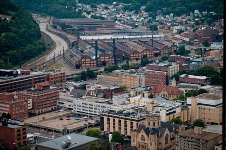 The City of Johnstown, Pa., once home to 100,000 during the height of the steel industry, has seen its numbers decline with the loss of jobs.