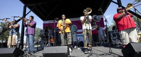 The Soul Rebels Brass Band will perform at this weekend's inaugural Summer Arts Weekend.