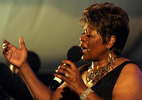 Irma Thomas says she will let the audience decide what songs she will sing.