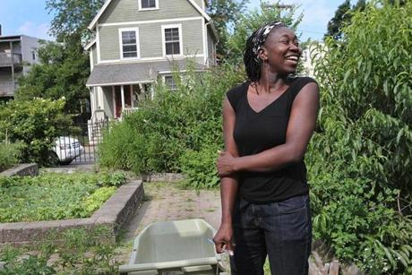 Jhana Senxian is working to organize her neighborhood to improve the garden on Coleman Street.
