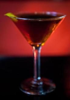 "The ""Hanky Panky"" is made with gin, sweet vermouth, Fernet Branca, and a splash of orange bitters."