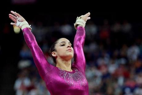 Aly Raisman of the United States finished her routine on the vault in the Artistic Gymnastics Women's Individual All-Around final.