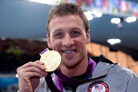 Swimmer Ryan Lochte wore his grill on the medal stand.