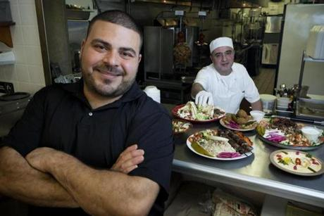 Sami Saba (front) is the owner and Ali Hachem is his business partner and chef.