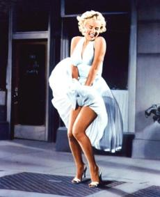 "Marilyn Monroe in the 1955 film ""The Seven Year Itch."""