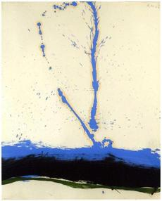 "Beside the Sea No. 22"" (1962), oil on Strathmore paper."