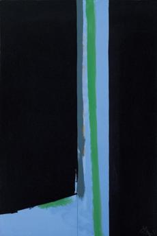 "Robert Motherwell's ""Summer Seaside Doorway,"" (1971), oil, acrylic and charcoal on canvas."