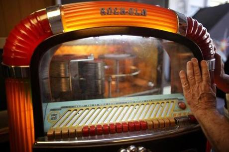 A 1947 Rockola jukebox is one of many classic jukeboxes Garnick has recently restored.