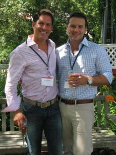 P-TOWN PARTY: Host committee members Doug Dolezal and Greg Welch at Community Research Initiative's summer fund-raiser in Provincetown, The Red Inn  on July 21