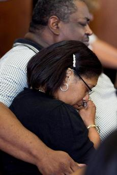 Nate Davis and Latrina Fomby-Davis listened quietly to the verdict in the trial of their son's murder.