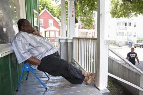 Four days after the trial, Nathaniel Davis Jr. sits on his porch overlooking his beloved Norton Street in Dorchester. A day before, the Supreme Court ruled that it was unconsitutional for juveniles to be given life sentences. The ruling could affect his son's killer Joshua Fernandes, who was 16 when he fired the fatal shots.