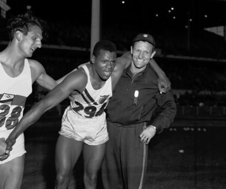 Mr. Campbell won the decathlon in Melbourne in 1956.