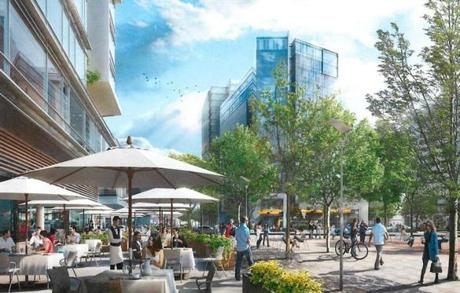 Developers say a square with restaurants and shops will help make NorthPoint a community, not just a collection of buildings.