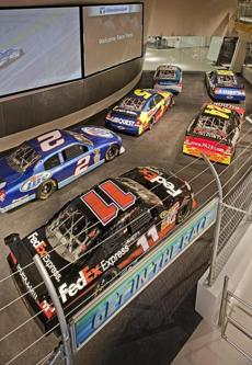 Racing simulators at the NASCAR Hall of Fame.