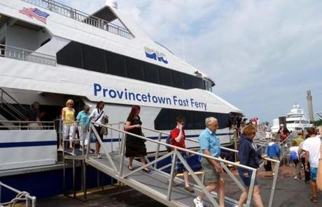 The Provincetown Fast Ferry makes the run from Boston to the tip of the Cape in about 90 minutes.