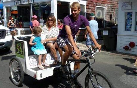 Visitors who didn't drive but are tired of walking can easily catch a pedicab.