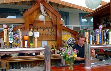 The Nor' East Beer Garden specializes in craft brews -- in bottle, can, or on draft.