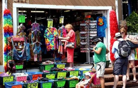 Shopping in Provincetown can be a colorful activity.