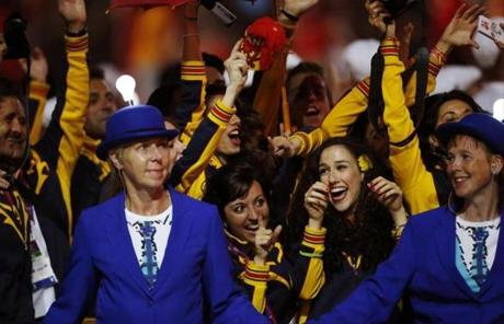 Spanish athletes were at the ceremony.