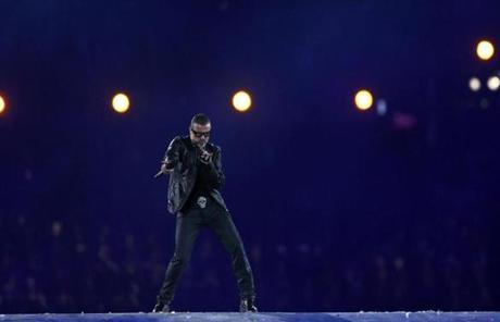 Singer George Michael performed during the ceremony.