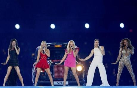 The Spice Girls were among the musical acts that performed during the show.