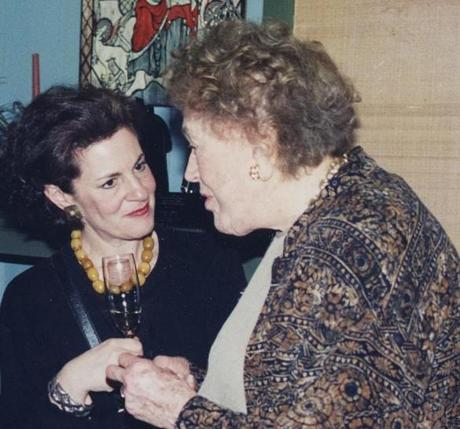 Sheryl Julian and Julia Child in February 1996.