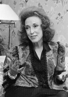Cosmopolitan editor Helen Gurley Brown is seen in 1982.