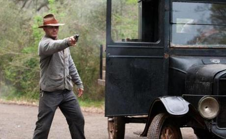 "Tom Hardy plays Forrest Bondurant in the new movie ""Lawless,"" based on Matt Bondurant's book."