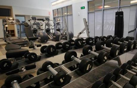 Fitness rooms and basketball courts will encourage physical activity at the hospital.
