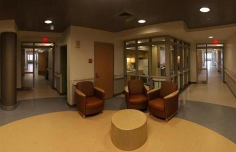 In the residential wing of the hospital, patients will live in private bedrooms.
