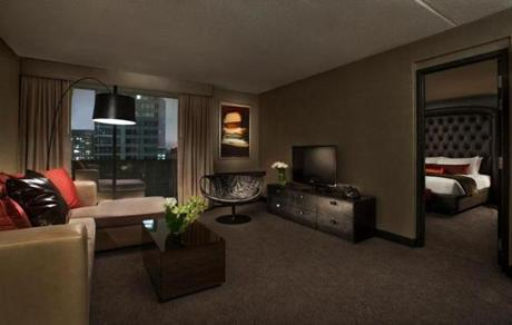 The one-bedroom suite.