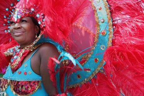 Janeal Hoyte took part in Boston's annual Caribbean Festival Parade on Aug. 25.