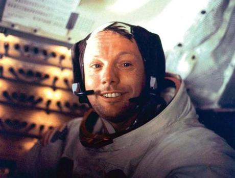 Mankind's first moon walker Neil Armstrong.