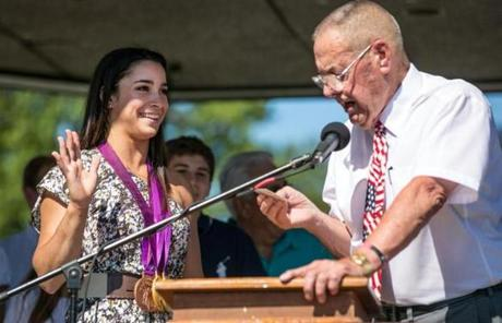 Raisman was named a deputy sheriff by Norfolk County Commissioner Francis O'Brien